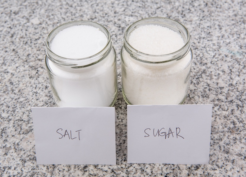 El villano es el azúcar, no la sal.
